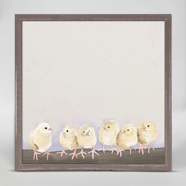 Baby Chicks by Cathy Walters Mini Canvas Framed Art by Oopsy Daisy
