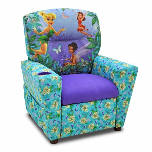Disney S Fairies Kids Recliner With Cup Holder By Kidz World.