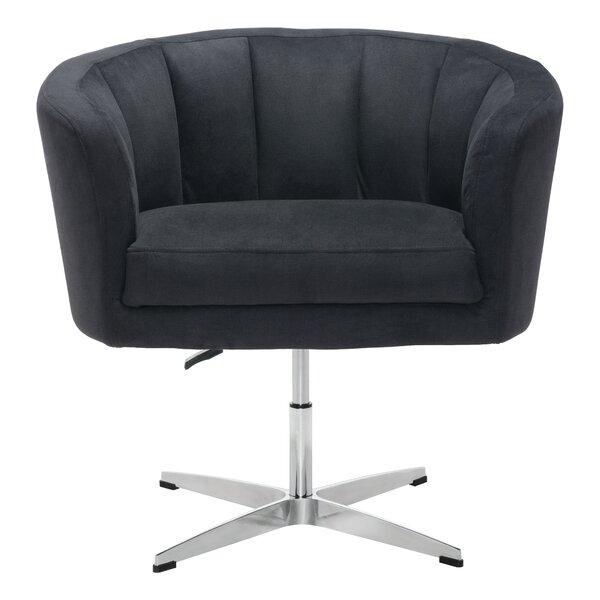 Charlie Swivel Barrel Chair by Ivy Bronx