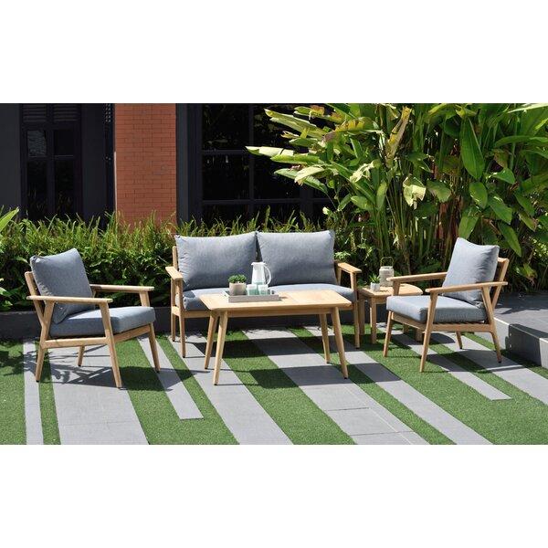 Darrah 5 Piece Teak Sofa Seating Group with Cushions by Brayden Studio