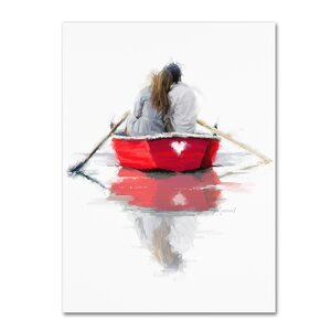 'Couple in Boat' Print on Canvas by Trademark Fine Art
