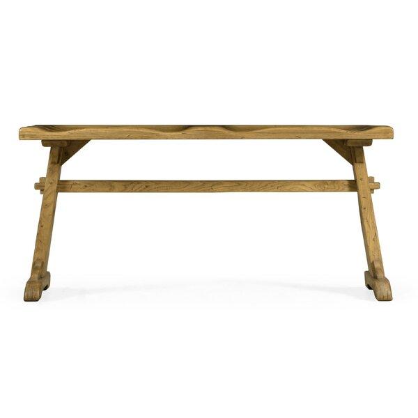 Oak Tavern Wood Bench by Jonathan Charles Fine Furniture