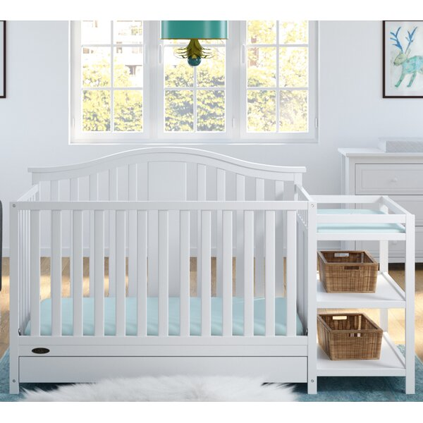 Solano 4 In 1 Convertible Crib And Changer By Graco.