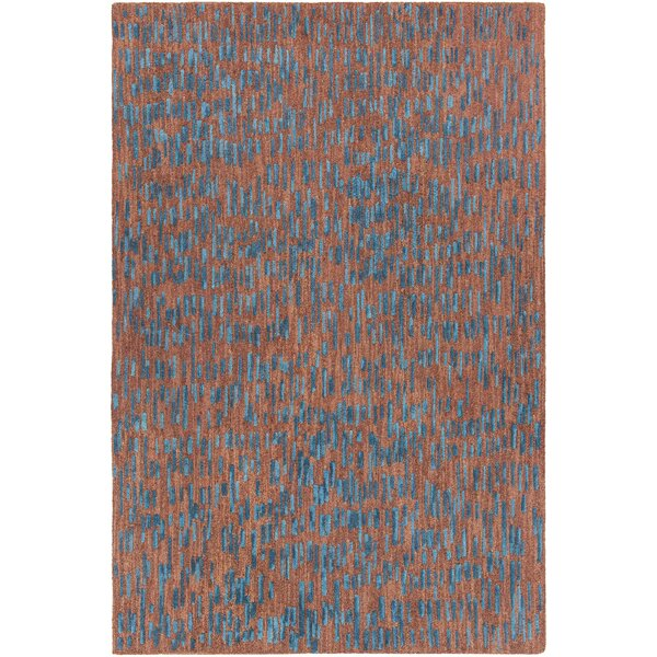 Kirtley Hand-Tufted Brown/Blue Area Rug by Orren Ellis