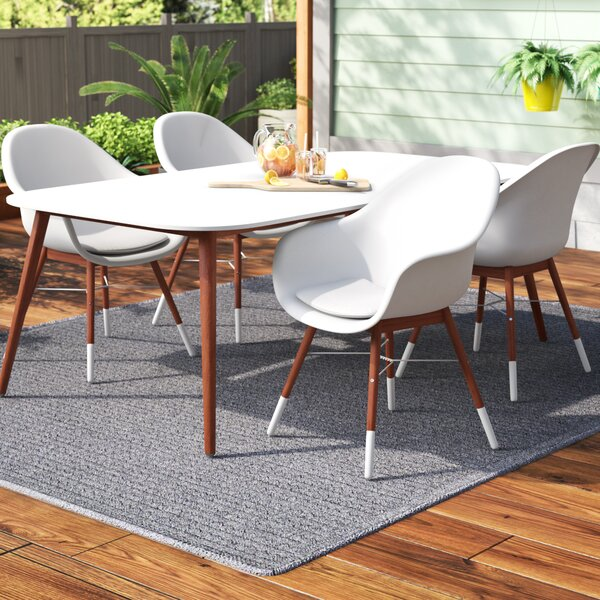 Colyer 4 Piece Dining Set with Cushions by Mercury Row