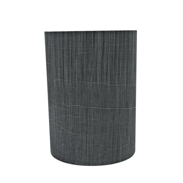 11 H Fabric Drum Lamp Shade ( Spider ) in Gray/Black