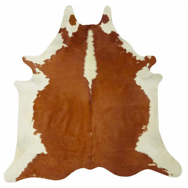Extra Large Brazilian Cowhide Brown/White Area Rug by Chesterfield Leather