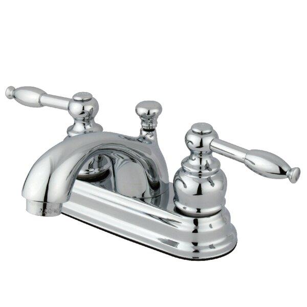 Knight Centerset Bathroom Faucet with Pop-Up Drain by Kingston Brass Kingston Brass