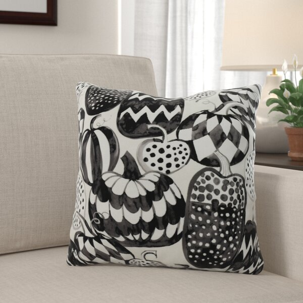 Maser Pumpkins Galore Halloween Throw Pillow by The Holiday Aisle