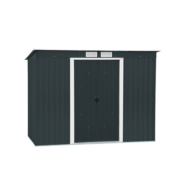 Pent 8 ft. W x 4 ft. D Metal Lean-To Storage Shed by Duramax Building Products