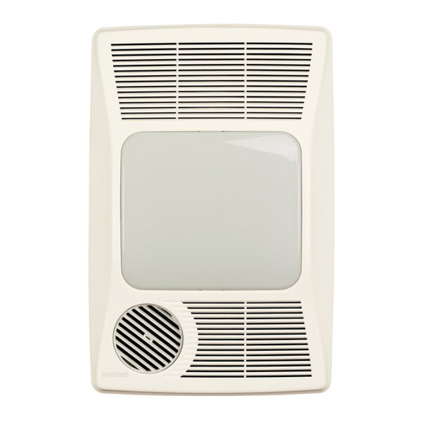 100 CFM Bathroom Fan with Heater and Light by Broa