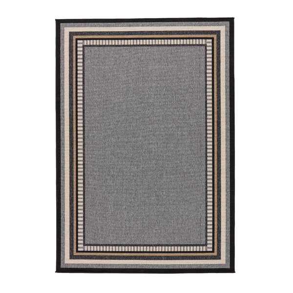 Somers Hand-Hooked Gray/Taupe Indoor/Outdoor Area Rug by Threadbind