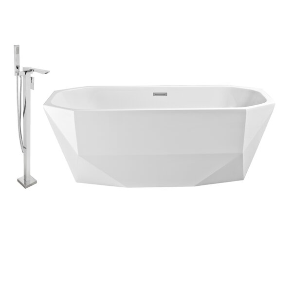 63 x 24 Freestanding Soaking Bathtub by Wildon Home ®