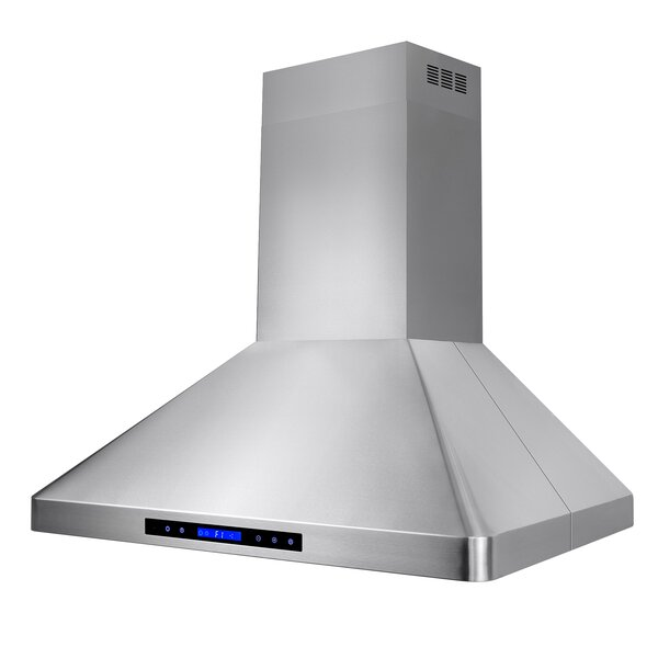 36 471 CFM Ducted Island Range Hood Stainless Steel with Remote & Touch Control by AKDY