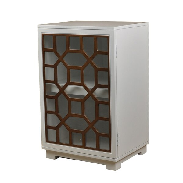 Octagon Door Wood Accent Cabinet by Lamps Per Se