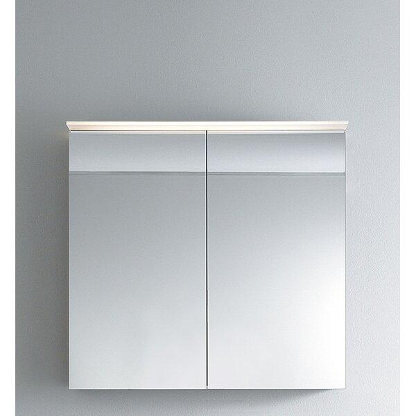 Delos Surface Mount Frameless Medicine Cabinet with 2 Shelves and LED Lighting