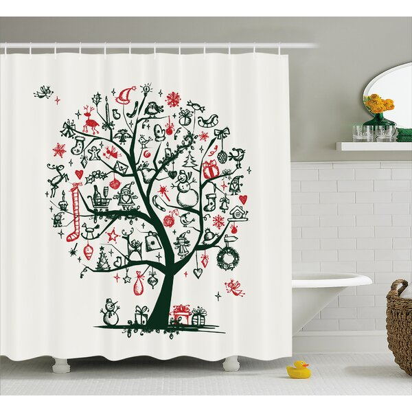 Neven Tree Ornaments Gifts Shower Curtain by Winston Porter