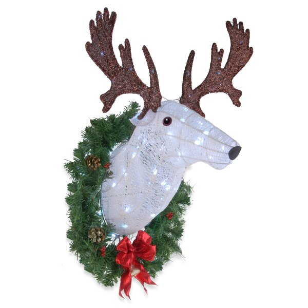 Pre-Lit Wall Mounted Buck Lighted Display by The Holiday Aisle