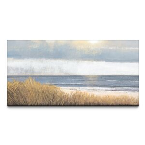 Sea Breeze Textured by Studio 212 Painting Print on Canvas by Beachcrest Home