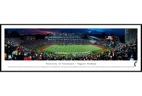 NCAA Cincinnati, University of - Football by Christopher Gjevre Framed Photographic Print by Blakeway Worldwide Panoramas, Inc