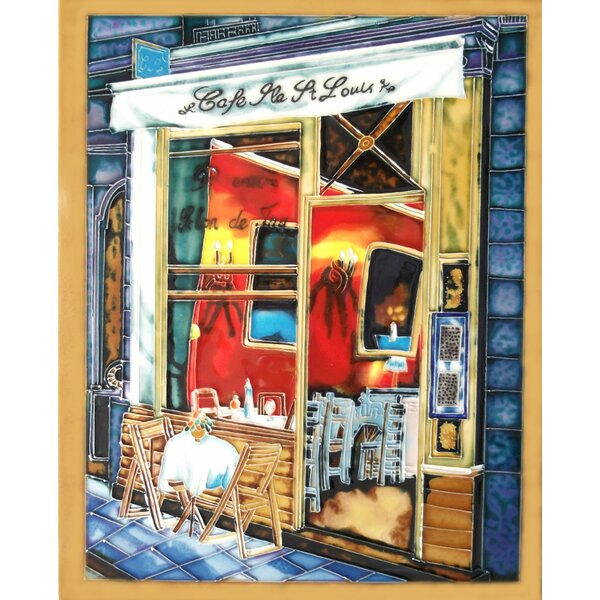 Cafe Shop Framed Tile Wall Decor by Continental Art Center