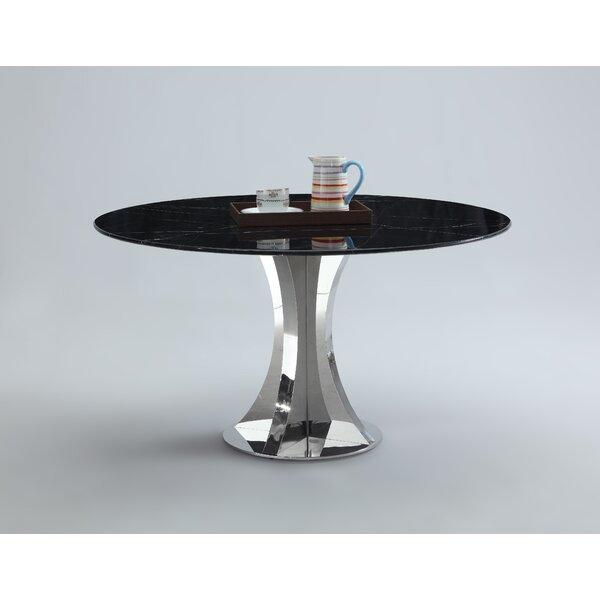Shequita Marble Dining Table by Orren Ellis