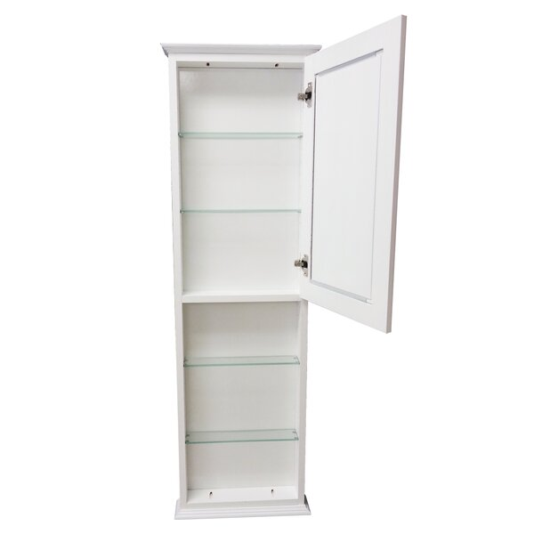 Drexel Series 15.25 W x 49.5 H Wall Mounted Cabinet by WG Wood Products