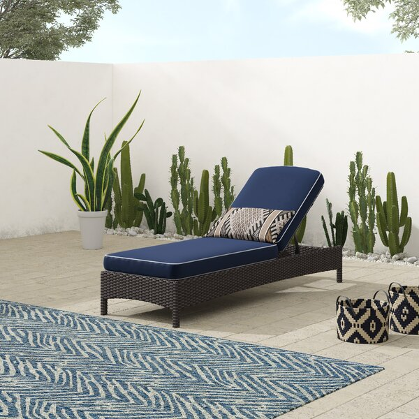 Crawfordsville Outdoor Chaise Lounge With Cushion By Mistana