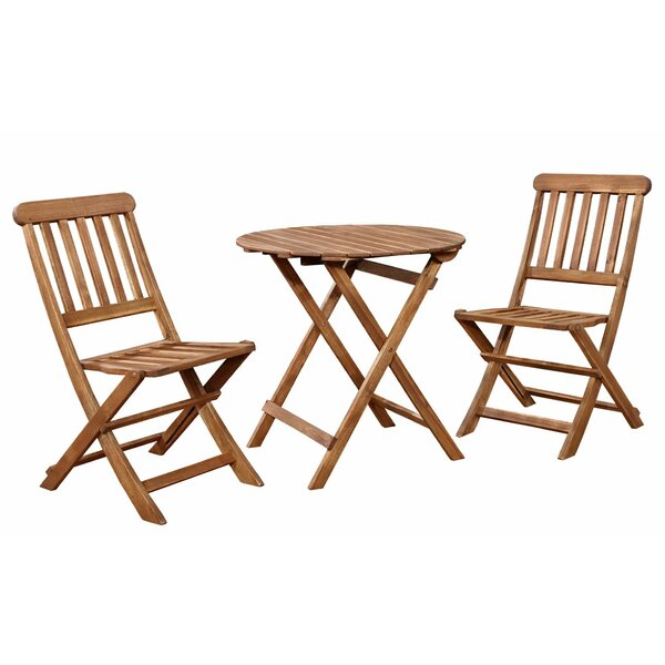 Roxann 3 Piece Solid Wood Dining Set by August Grove
