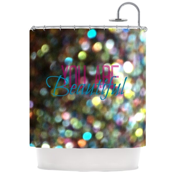 You Are Beautiful Shower Curtain by KESS InHouse