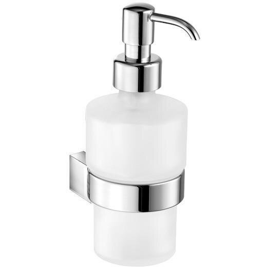 Soules Wall Frosted Glass Soap & Lotion Dispenser by Orren Ellis