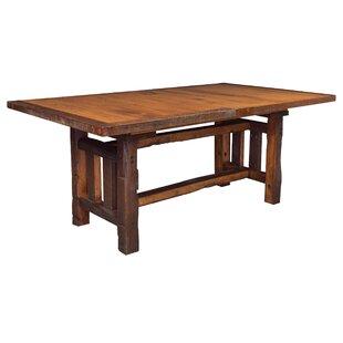 Rabon Barnwood Trestle Solid Wood Dining Table
