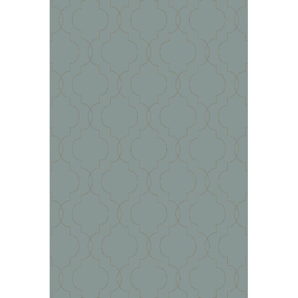 Amenia Teal/Olive Geometric Rug by Darby Home Co