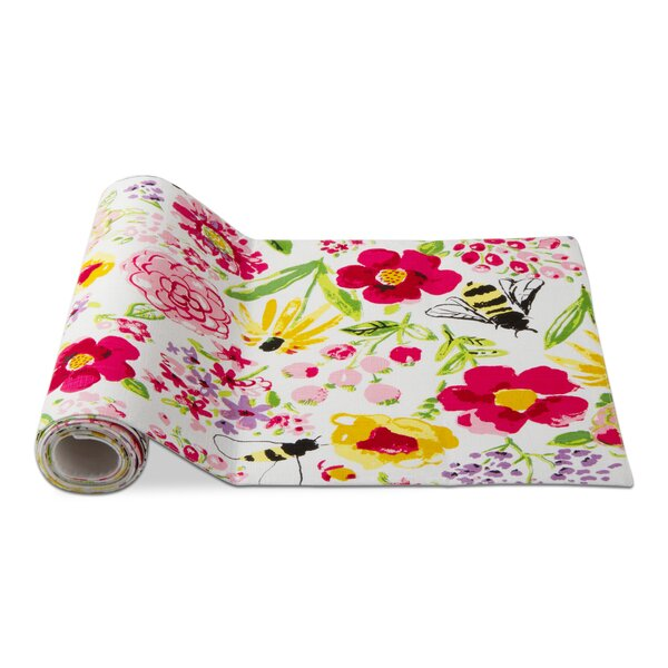 Fresh Flowers Garden Table Runner by TAG