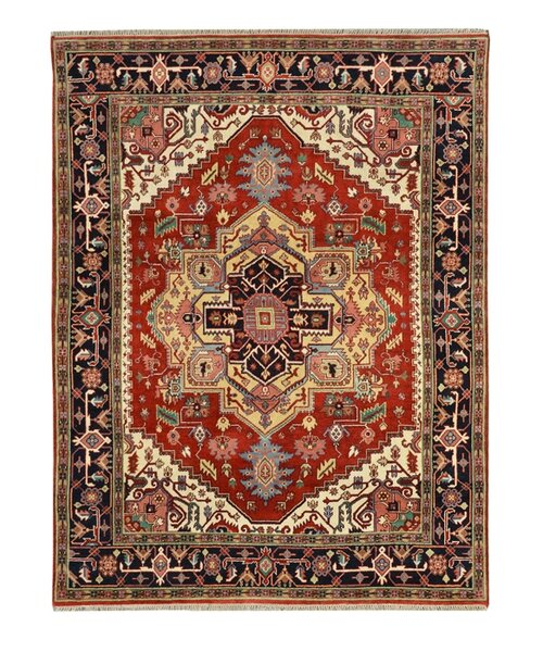 Hand-Knotted Red/Black Area Rug by Wildon Home ®