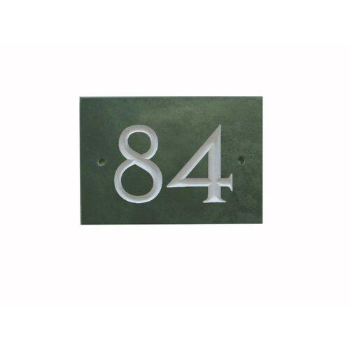 25|4 cm Wandbefestigte Hausnummer Odacia Garten Living Farbe: Grün| Number: 84 | Lampen > Aussenlampen > Hausnummern | Garten Living