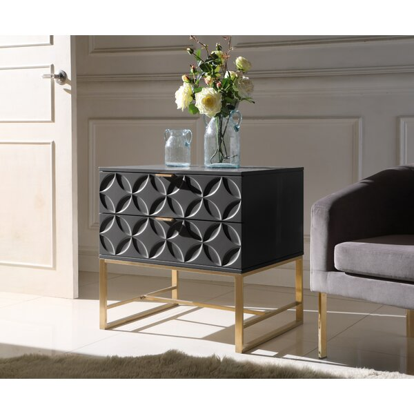 Dollison 2 Drawers Nightstand by Everly Quinn