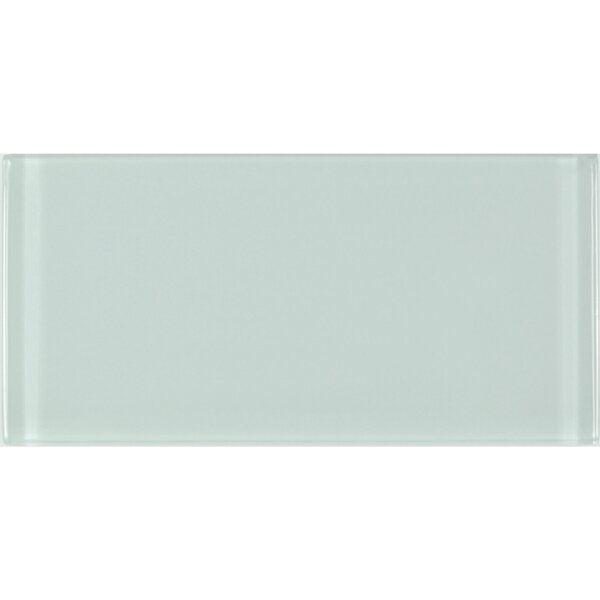 Metro 3 x 6 Glass Subway Tile in Arctic by Abolos
