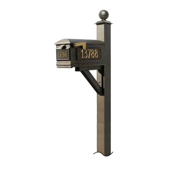 Lewiston Mailbox with Post Included by Qualarc