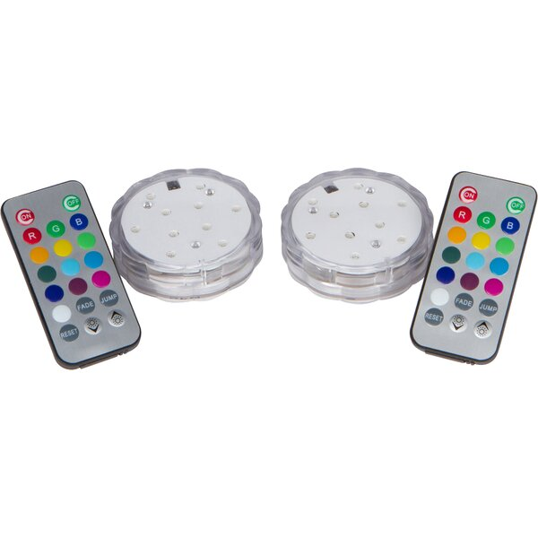 LED Lights for Disc Golf Basket with Remote Controlled (Set of 2) by Trademark Innovations