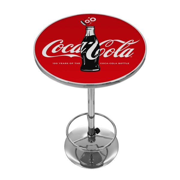 Coca-Cola 100th Anniversary Pub Table by Trademark Global
