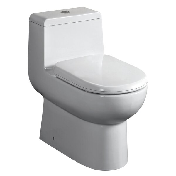 Magicflush Dual Flush Elongated One-Piece Toilet by Whitehaus Collection