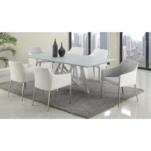 white modern dining room sets. Zaiden 7 Piece Dining Set White Modern Room Sets