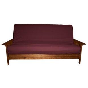 save to idea board burgundy futon cover   wayfair  rh   wayfair