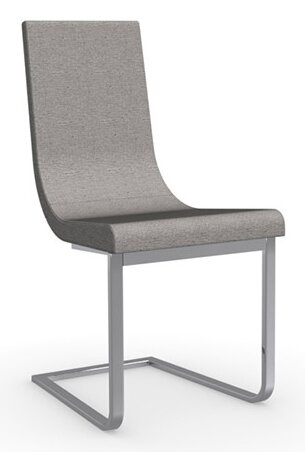 Cruiser Cantilever Upholstered Metal Dining Chair by Connubia