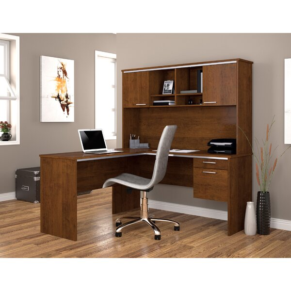 Flare 2-PIece L-Shape Executive Desk Office Suite by Bestar