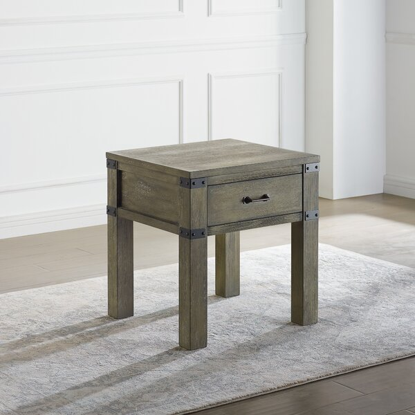 Grayson End Table with Storage by Union Rustic