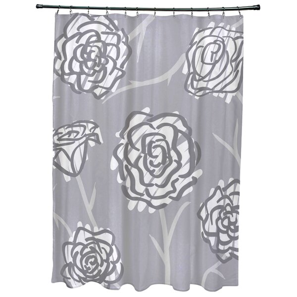 Cherry Spring Floral 2 Print Shower Curtain by Latitude Run