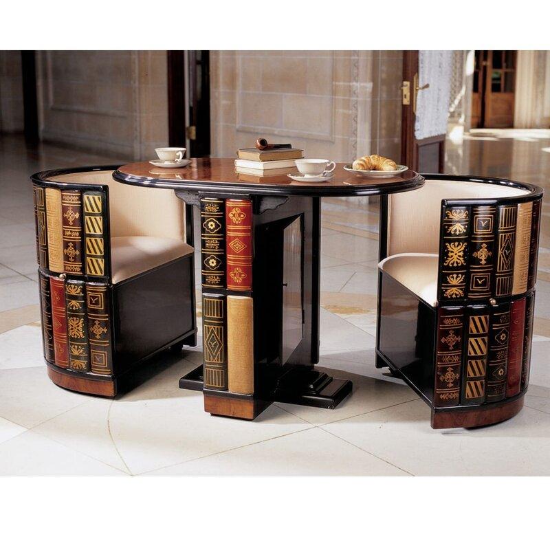 Design Toscano 3 Piece Dining Set Reviews Wayfair