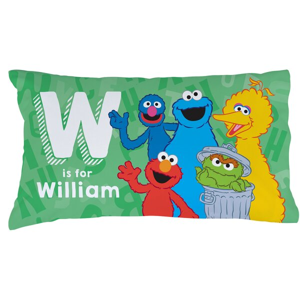 Personalized Sesame Street Initial Pillow Case by CPS